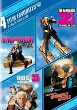 Leslie Nielsen 4 Film Favorites Naked Gun 2 1/2 33 1/3  (DVD, 4-Disc Set) NEW