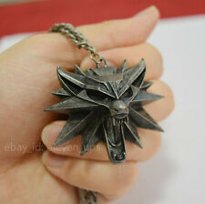 The Witcher 3 III Wild Hunt Wolf Medallion Pendant Geralt Necklace Free Shipping