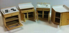 Complete Kitchen Set, Dolls House Miniature, Sink, Cooker, 1.12 Scale Miniatures
