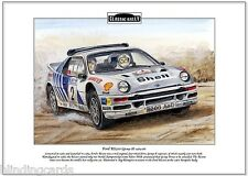 FORD RS200 (Group B) 1984-86 - Classic Rally A4 Fine Art Print - Stig Blomqvist