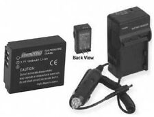 Battery + Charger for Panasonic DMC-TZ3EG-S DMCTZ1