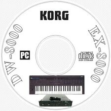 Korg DW-8000 EX-8000 Sound Library, Patches, MIDI Editors Manuals on CD - DW8000