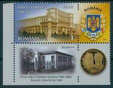 Rumänien 2014  Mi.6828 TAB ** 150 Jahre Senat,SENATE OF ROMANIA, MASONIC,CUZA