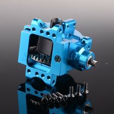 Aluminum Front/Rear Gear Box Complete 06063/06064 BLUE For RC 1/10 HSP RedCat