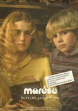 Publicité 1980  MARESE tricots collection mode pret à porter
