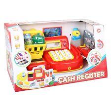 CASH REGISTER Spielzeugkasse ROT Kinder Kasse mit Zubehör Spielkasse Kaufladen