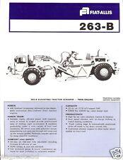 Equipment Brochure - Fiat-Allis - 263-B - Elevating Tractor Scraper (E1561)