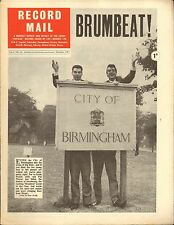 RECORD MAIL NEWSPAPER 1963 10 OCTOBER brumbeat birmingham/kyu sakamoto picture