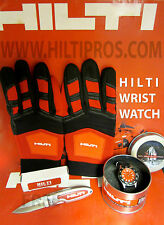 HILTI DIAL STAINLESS STEEL WATCH, BRAND NEW, FREE HILTI KNIFE, FAST SHIPPING