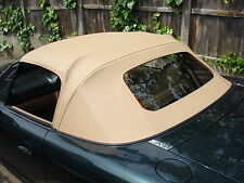 Mazda Mx5 MK2 Beige Vinyl Hood with Glass Window