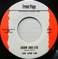 JIM and LEE 45 Adam and Eve / I'll Never Change FRONT PAGE Soul VG++ #B75