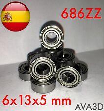 686zz 6 x 13 x 5 mm 6*13*5 mm bearing rodamiento 686-2z 686 zz ulz613
