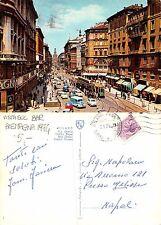 Milano - Via Orefici VISTA SUL BAR ALEMAGNA + TRAM ANNO 1974 (A-L 560)