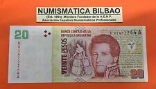 ARGENTINA 20 PESOS 2005 2006 SHIP Pick 355 BILLETE SC REPLACEMENT Serie R NOTE