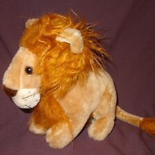 "Lion Brown Tan  Toy Plush Stuffed Animal 9"" Cat Conesco Chase"