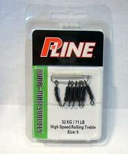 P-Line HS3R5 Pucci 3 Barrel Rolling Chain High Speed Fishing Swivels Size 5