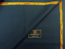 HARRISONS OF EDINBURGH 'FINE CLASSIC' ALL WOOL SUITING FABRIC, BLUE/BLACK, 2.25M
