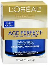 L'Oreal Dermo-Expertise Age Perfect for Mature Skin Night Cream 2.50 oz (4 pack)