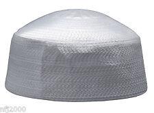Rigid White Round 23-inch Muslim Islamic Kufi Hat Taqiya Takke Skull Cap Kofia