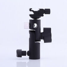 "Umbrella Holder E-III Flash Shoe Studio Light Stand Bracket For 1/4"" 3/8"" DSLR"