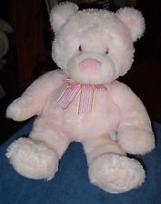 """RUSS BERRIE LARGE PINK TEDDY BEAR BABY GIRL PLUSH SOFT TOY 20"""" NEW BABY GIFT"""