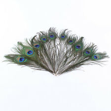 10Pcs Peacock Tail Feather 25-30cm For Craft Findings DIY Wedding Decoration Hot