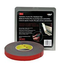 3M Automotive Acrylic Plus Attachment Tape, Black, 06383, 6383