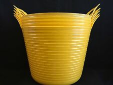 Flexible Bucket / Buckets /Trugs 42L (pack of 5) Yellow Cheapest on Ebay