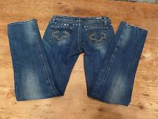 ReRock For Express Jeans Straight Low Rise Studded Women's Size 6R 29 x 32 Nice