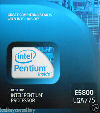 Intel BX80571E5800 SLGTG Pentium E5800 LGA775 3.20 GHz 800 MHz New Retail Box