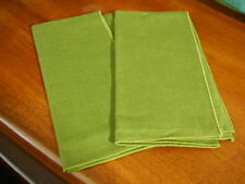 "Set of 2 Solid Green Fabric Napkins--16"" Square"