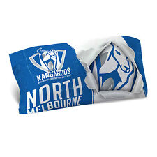 North Melbourne Kangaroos AFL Pillow Case Pillowcase Birthday Gift *NEW 2017*