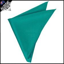 Mens Jade Teal Green Pocket Square Handkerchief