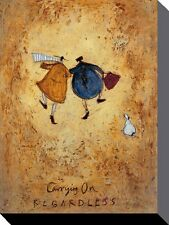 SAM TOFT (CARRYING ON REGARDLESS)   Canvas  Print 30 X 40cm