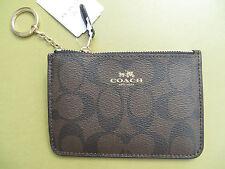 COACH Wristlet Wallet Key Pouch Signature PVC Leather 63923 64072 NEW Handbag