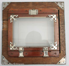 "1/2 Plate 8x8"" Film Back with Focus Glass reduce mounted to 10x10"" VINTAGE F01"