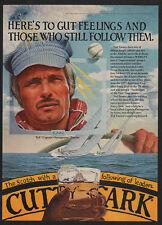 1981 CUTTY SARK Scotch - TED TURNER - TBS -  CNN - ATLANTA BRAVES - VINTAGE AD