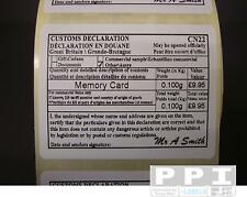 500 ROYAL MAIL CN22 CUSTOMS FORM LABELS PRE-FILLED ON ROLL CN22-ROLL (64x50)