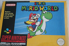 SNES Super Nintendo Super Mario World Yellow Box Rare Retro Collectors PAL