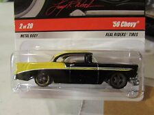 Hot Wheels Larry's Garage Real Riders Tires 56 Chevy #2 of 20 Black / Yellow