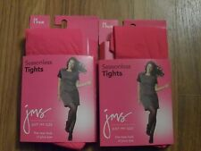2 plus size womens tights ~~  XXXL  3X  ~~ pink / fuchsia footed by Just my Size