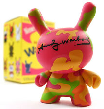 Kidrobot ANDY WARHOL DUNNY SERIES - CAMOUFLAGE 409 Vinyl Figure Neon Pink Camo