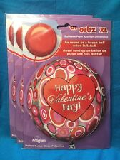 Three New Happy Valentine's Day Round Anagram Balloons New In Package