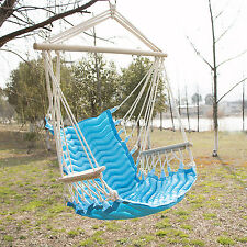 Hammock Hanging Rope Swing Chair Outdoor Porch Backyard Camping Portable Seat