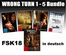 WRONG TURN Teil 1 2 3 4 5 Complete DVD Collection Neu