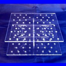 Square Large Clear Cake Pop Stand - 30cm x 6.5cm High, 36 Holes, 5cm apart