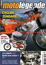 MOTO LEGENDE 179 ZUNDAPP KS 50 Super Sport HONDA CB 125 S RATIER 600 C6S SCOTT