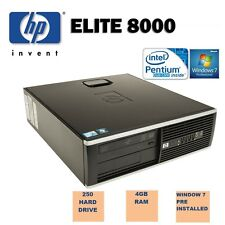 Fast hp elite 8000 sff 3,00 GHz, 4 go 250 go ordinateur de bureau pc windows 7 wi-fi