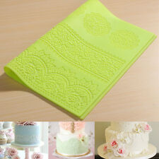 New Silicone Lace Mat Mold Mould for Edible Sugarcraft, Embossed Cake, Fondant