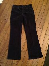 """Not Your Daughters Jeans"",  TUMMY TUCK, Boot Cut, Size 8, Dark Taupe Corduroy"